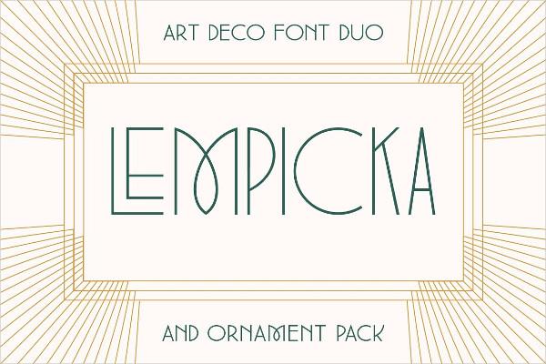 Lempicka Font Duo & Vector Ornaments