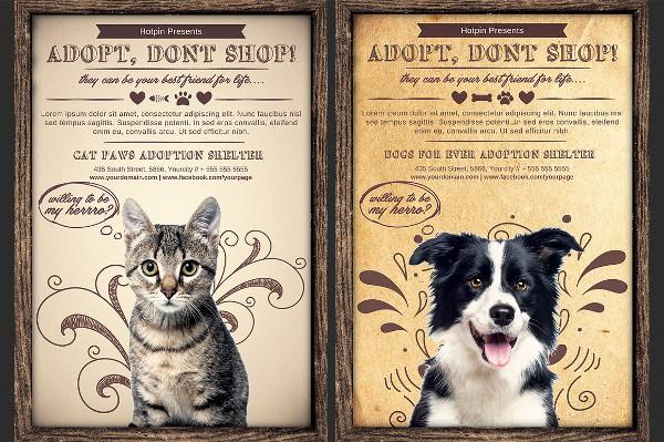 Vintage Pet Society Flyer Photoshop