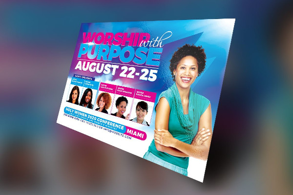 Women Conference Flyer Photoshop