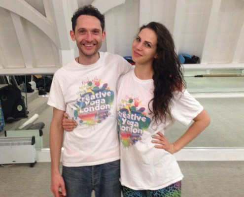 Richard Brook and Leading UK dating coach Hayley Quinn at Singles Yoga London