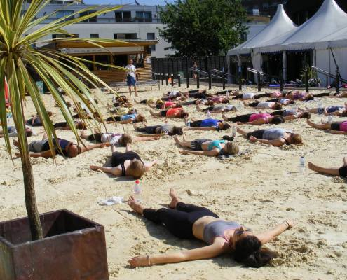 Creative Yoga with Richard Brook at the Roundhouse Beach Camden London