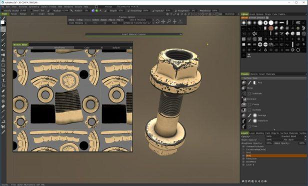 PBR texturing in 3D Coat Tutorial - Texture editor