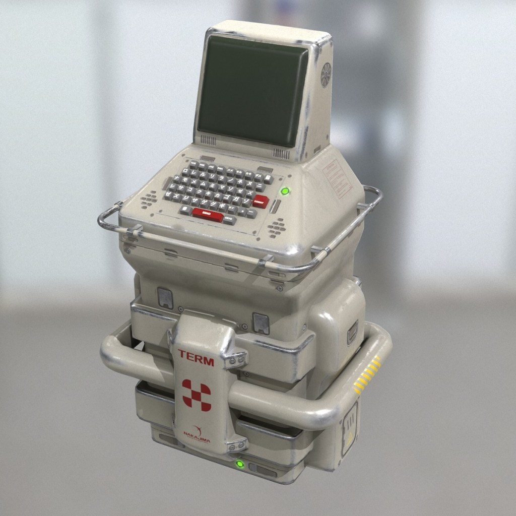 Sci-Fi Console Game Model