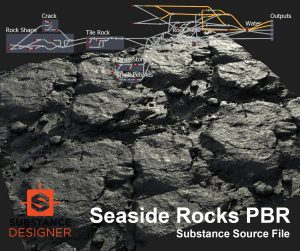 Seaside Rocks PBR .sbs and .sbsar