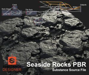 Seaside Rocks Substance (PBR) Source File