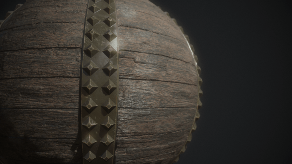 Final Render in Aged Wood Substance Tutorial