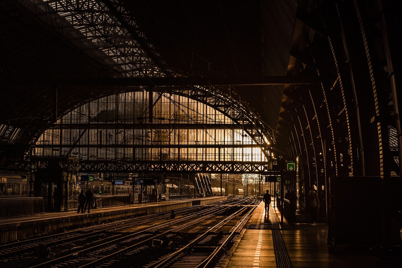 Image of a railway station