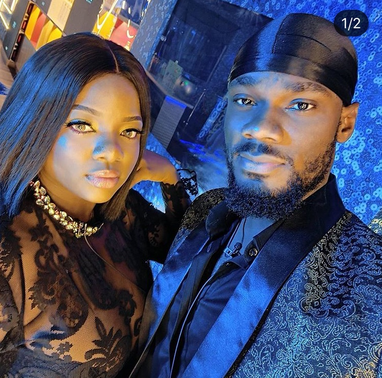 Dorathy and Prince At The Big brother nigeria house