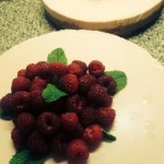 a picture of raspberry cheesecake