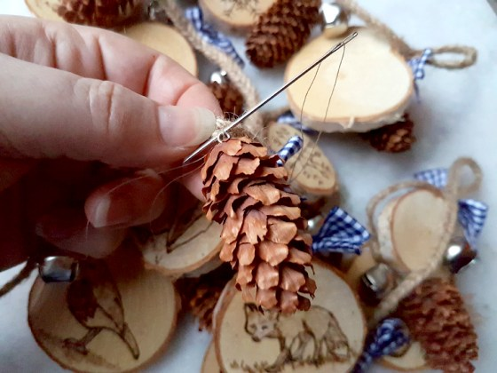 crafting a christmas ornament
