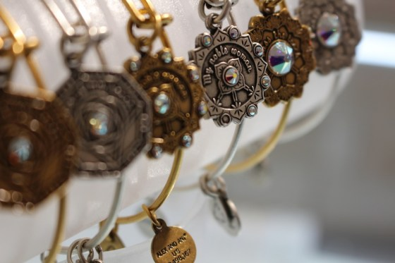 a picture of alex and ani bridal bangles