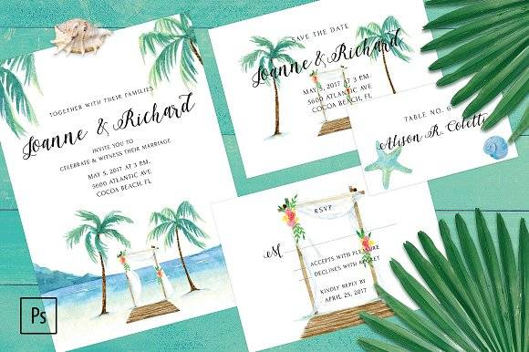 Beach Wedding Invitation Kit
