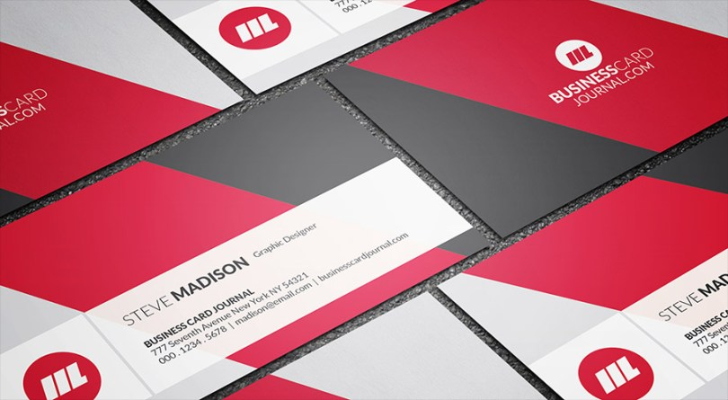 Modern Diagonal Background Business Card Template