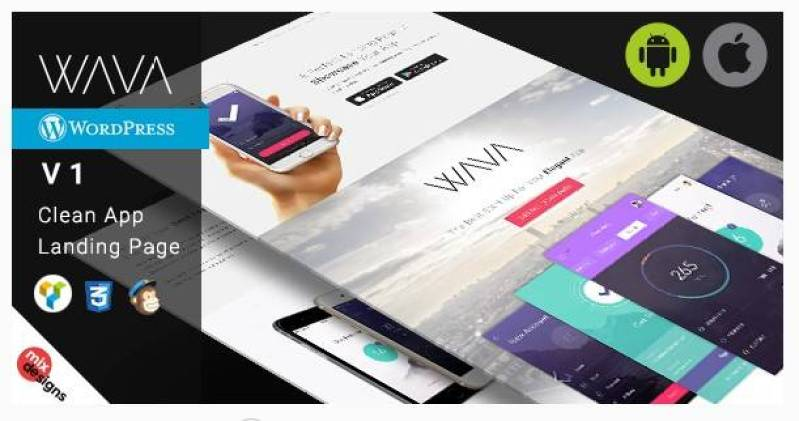 WAVA wordpress theme