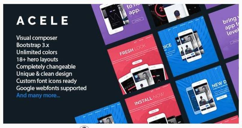 Acele wordpress theme