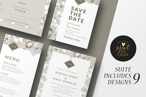 Wedding Invitation Suite - Karina