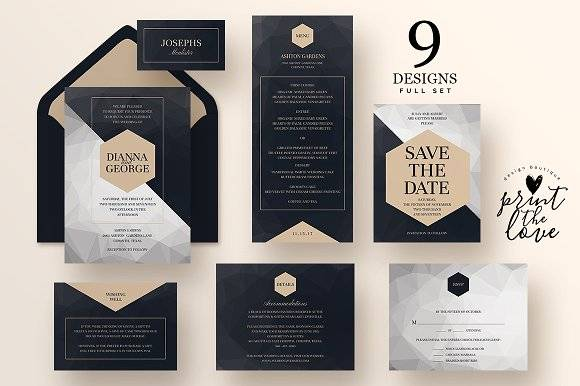 Wedding Invitation Suite - Poly