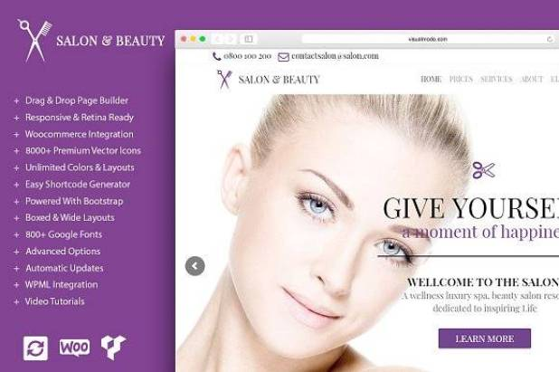 Salon - Beauty WordPress Theme
