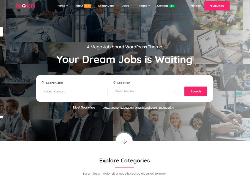 Nokri - Job Board WordPress Theme