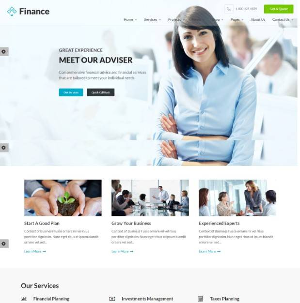 Finance - Business & Financial, Broker, Consulting, Accounting WordPress Theme