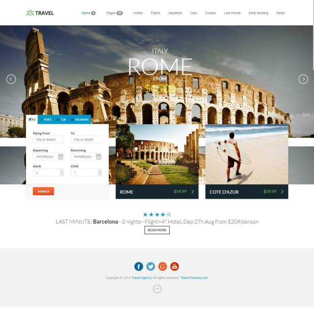 Travel Agency - Travel Online Hotel Booking