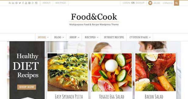 Food & Cook - Multipurpose Food Recipe WP Theme