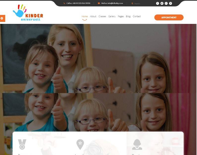 Kinder - Kindergarten & School WordPress Theme