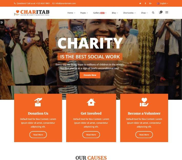 Charity - NonProfit Charity WP