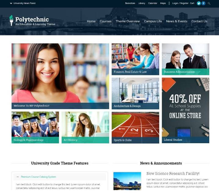 Polytechnic wordpress themes