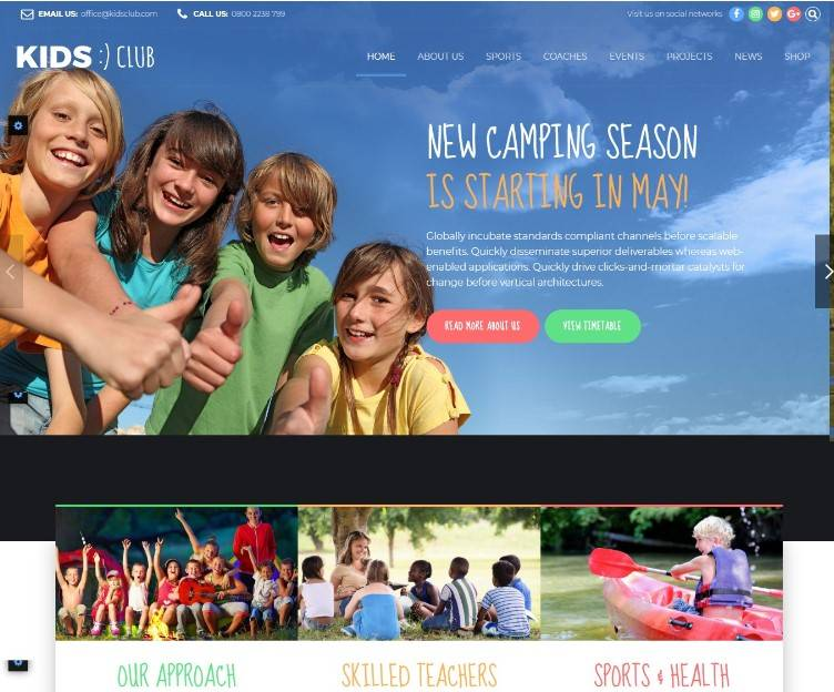Kids Club - Kindergarten wordpress themes
