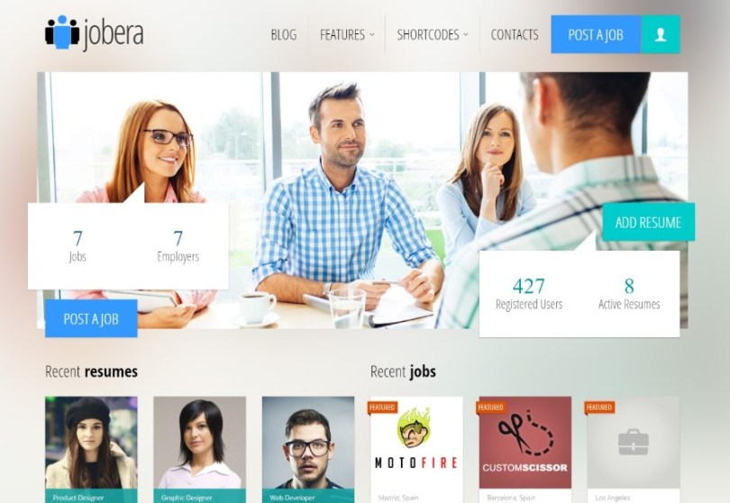 Jobera - Job Portal WordPress Theme