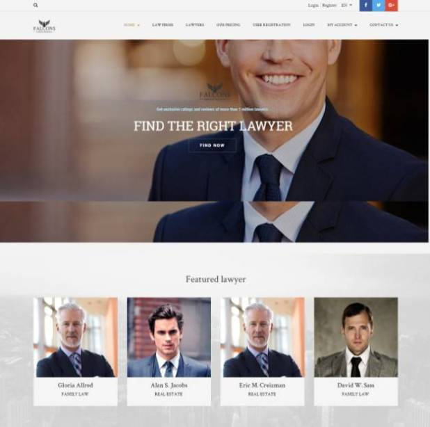 Falcons - Directory for Lawyers & Law Firms