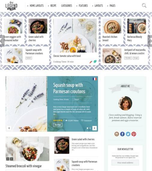 Neptune - Theme for Food Recipe Bloggers & Chefs