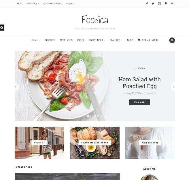 Foodica wordpress themes