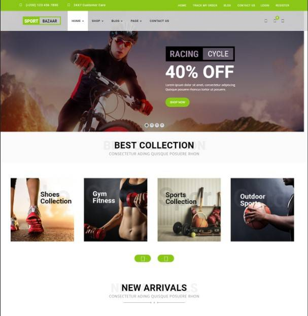 Sport Bazzar wordpress theme