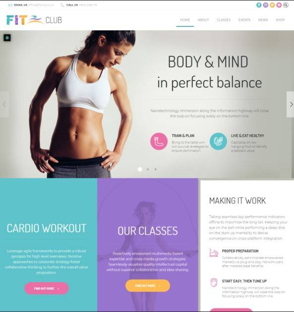 Health & Fitness WordPress Theme