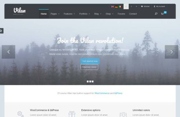 Vilan Corporate, Shop & Forum WordPress Theme