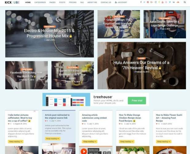 KICKCUBE - Membership & User Content Sharing Theme