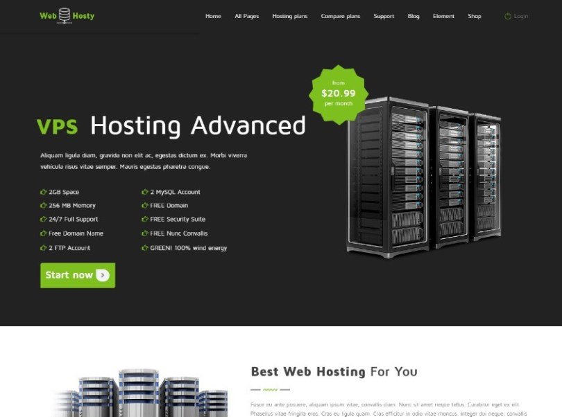 Web Host - Hosting WordPress Theme