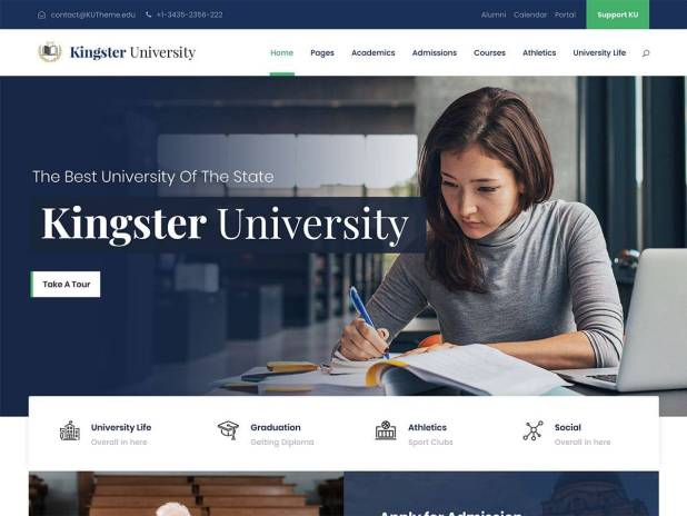 Kingster - Education WordPress Theme For University, College and School