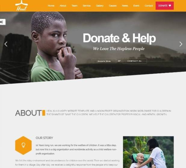 Heal - Multipurpose Charity WordPress Theme