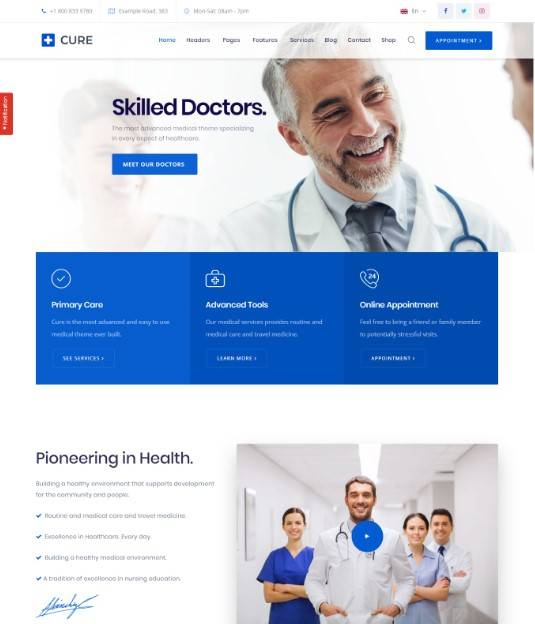 Medical Cure - Health and Medical WordPress Theme