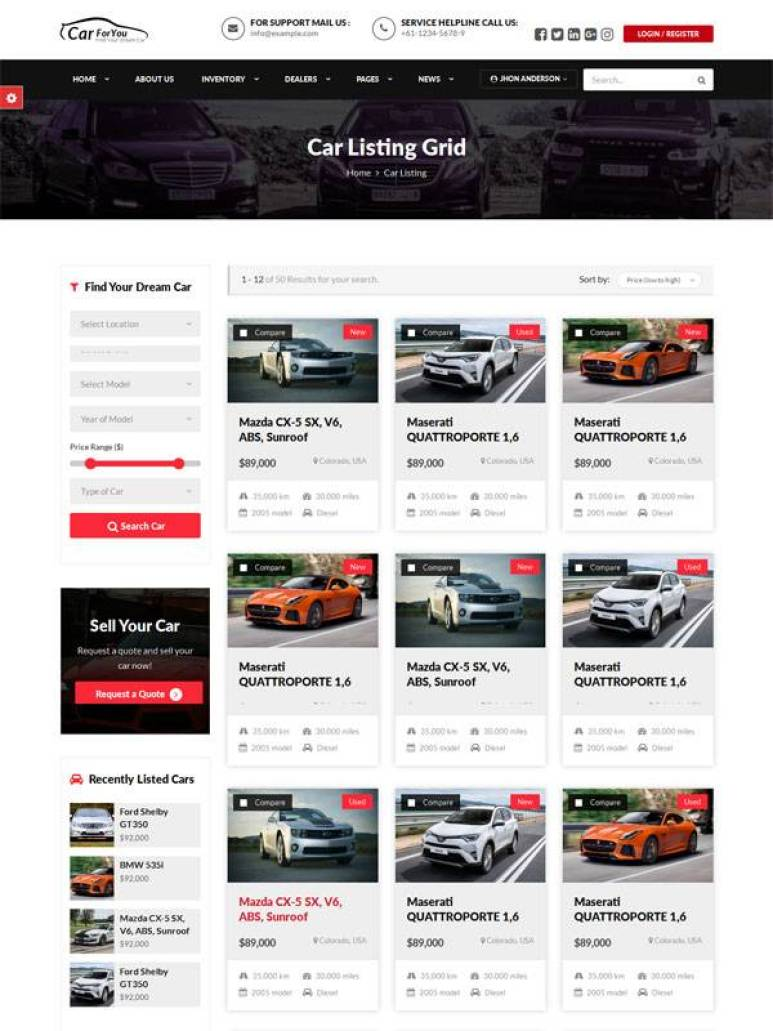 CarForYou wordpress themes