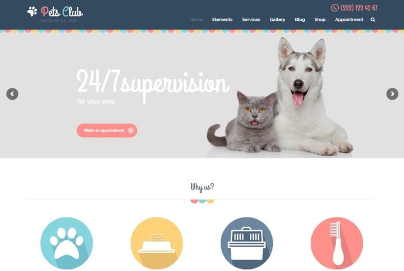 Pets Club - Pet Care, Shop & Veterinary WordPress Theme
