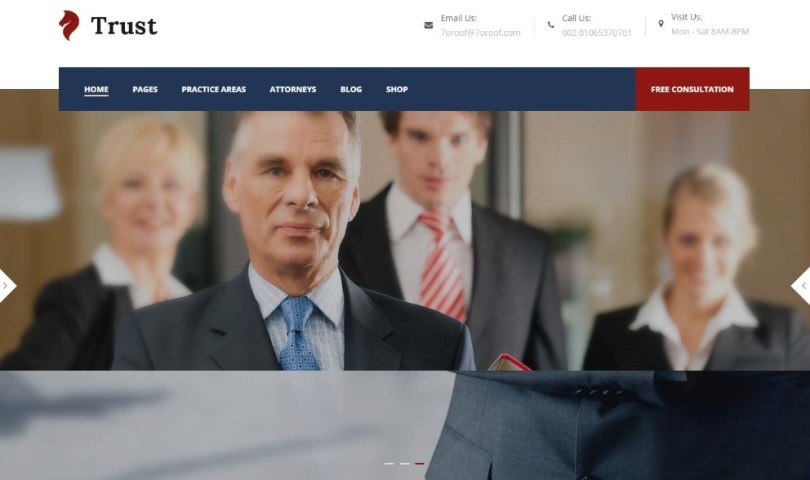 Trust Business - Lawyer and Attorney WordPress Theme