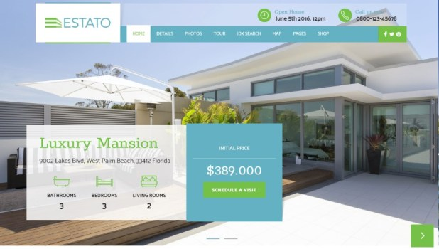 Single Property Real Estate - Estato wordpress theme