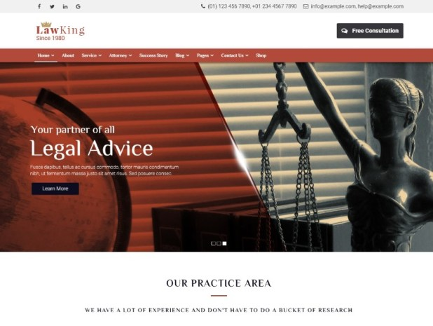 Lawyer - Lawyer & Attorney WordPress Theme