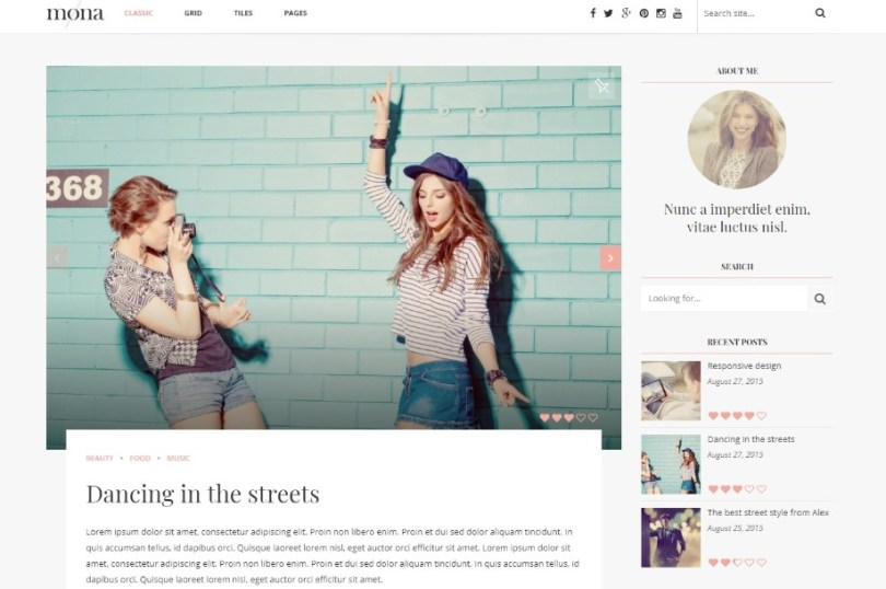 Mona – Personal Blog with Reviews