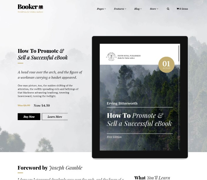 Booker - WordPress For Selling eBooks