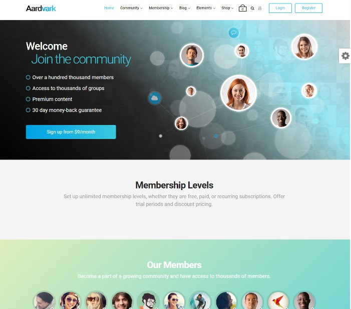 Aardvark - BuddyPress, Membership & Community Theme